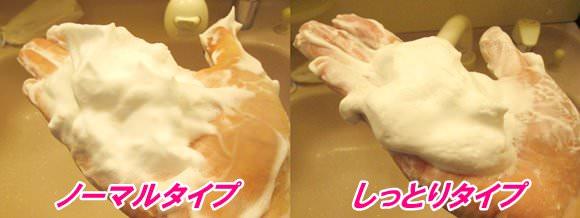 豆乳イソフラボンクレンジング洗顔のノーマルとしっとりの泡